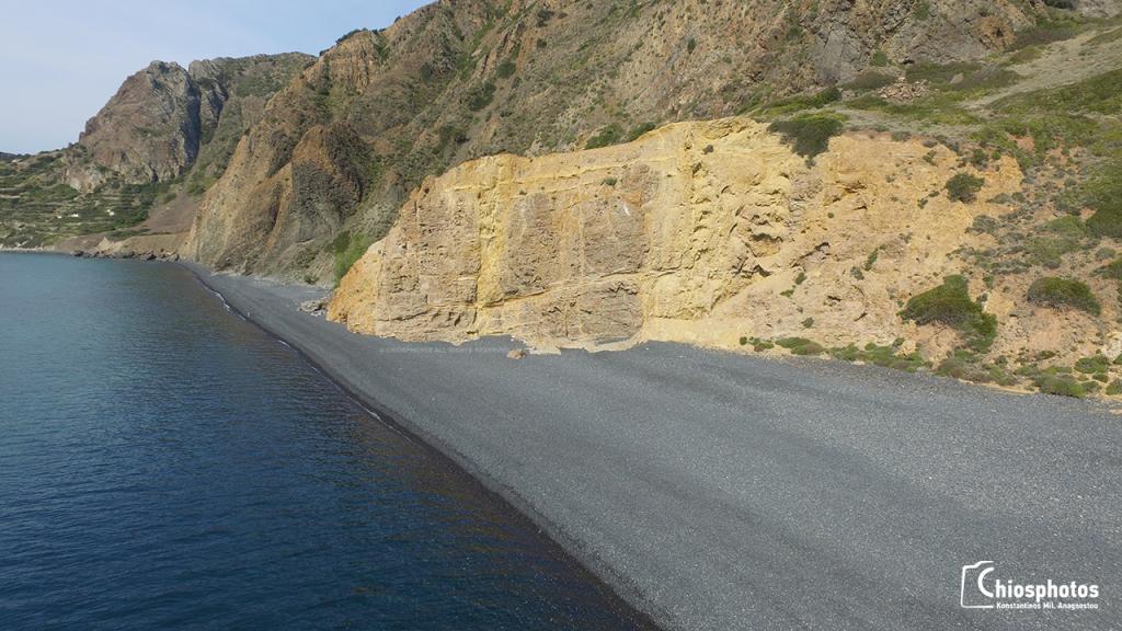 Παραλία Μαύρα Βόλια Χίος