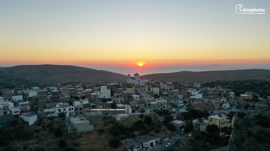 Ηλιοβασίλεμα Ελάτα Χίος