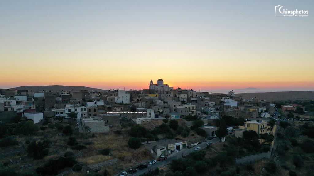 Ηλιοβασίλεμα Ελάτα Χίου